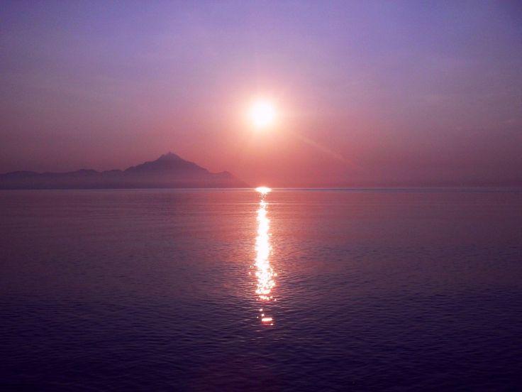 Sunrise at Mt. Athos by Renata Elbatat