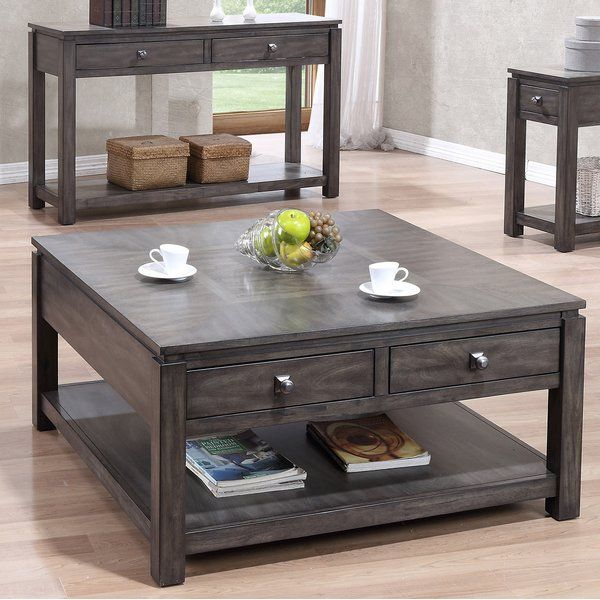 Woodville Drawer Coffee Table Reviews Joss Main Coffee Table With Storage Living Room Table Sets Coffee Table
