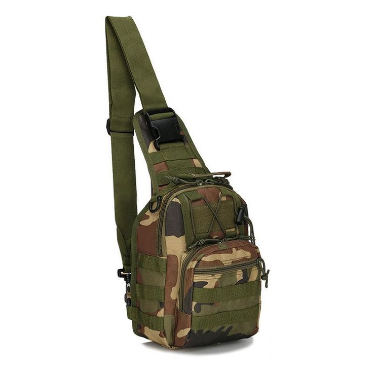 Outdoor camouflage chest package shoulder military tactical sling bag portable men's outdoor climbing bag backpack Shoulder bags