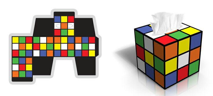 Rubik's Cube Creative Tissue Box   Printable Gift Boxes ...