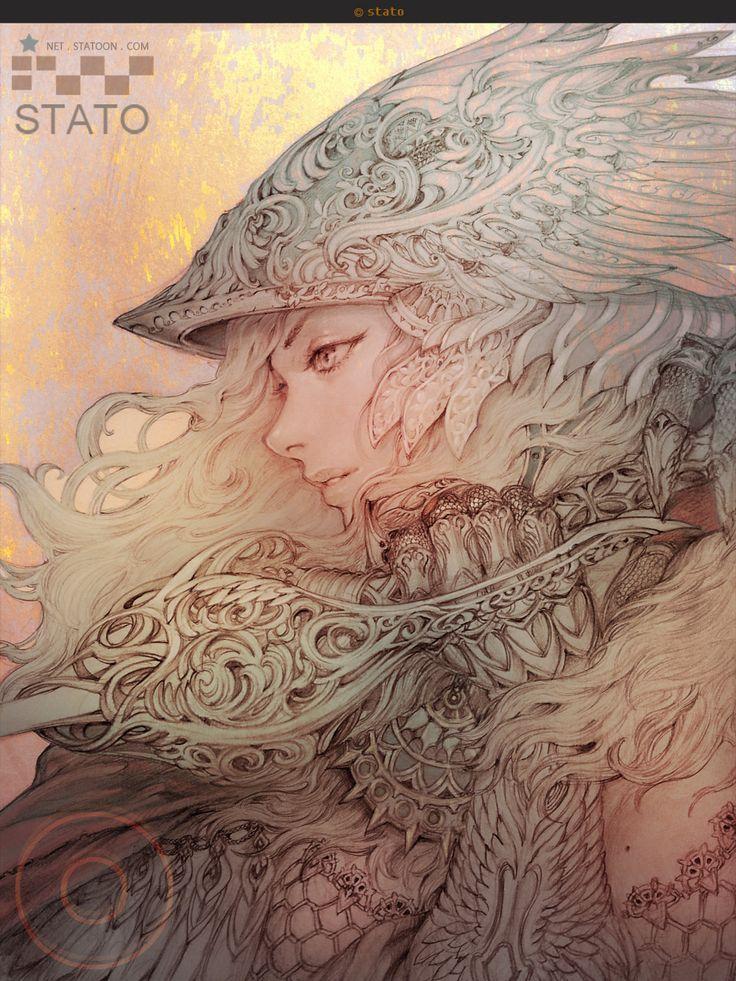 fantasy character 01, Stato Ozo on ArtStation at https://www.artstation.com/artwork/fantasy-character-01