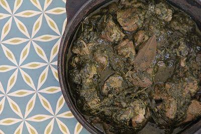 Indisk gryte med spinat