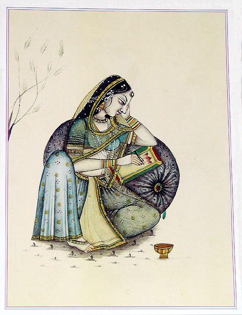 Rajput Lady (Reprint on Paper - Unframed))