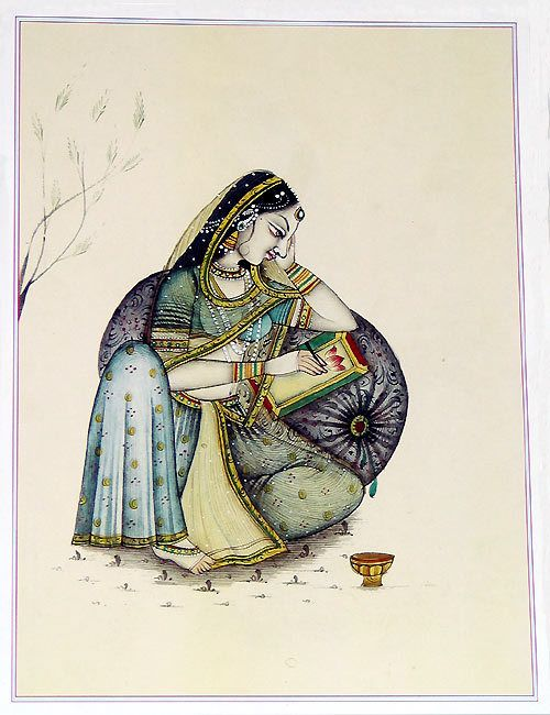Rajput Lady (Reprint on Paper - Unframed))