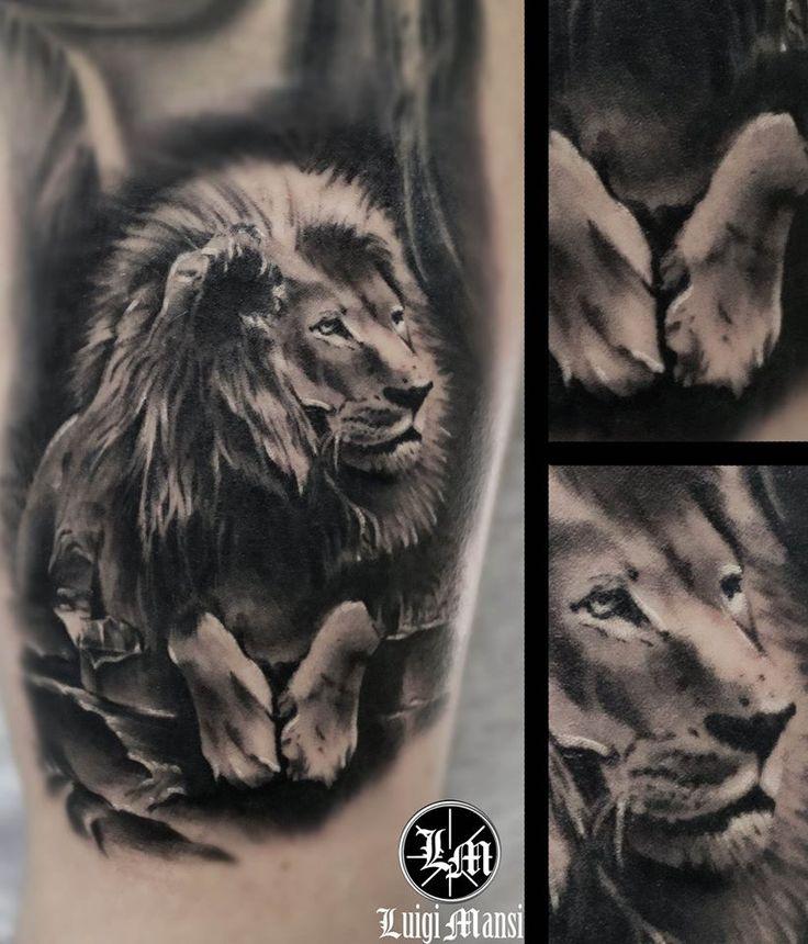 Realistic Lion Tattoo / Tatuaggio realistico leone
