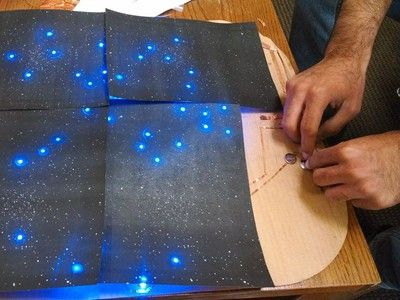 The Starry Night paper circuit is a beautiful introduction to DIY electronics and the night sky.