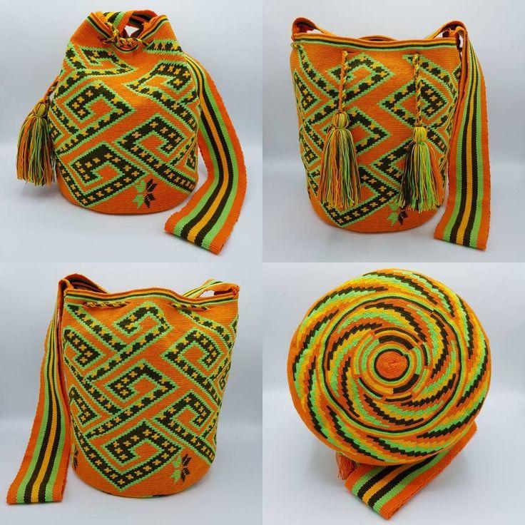 19 отметок «Нравится», 1 комментариев — Wela DD. (@wela.wayuu) в Instagram: «❤️ Wayuu bag Single thread size L   รุ่นด้ายเดี่ยว ไซส์ L  เส้นผ่าศูนย์กลางก้นกระเป๋า 24…»