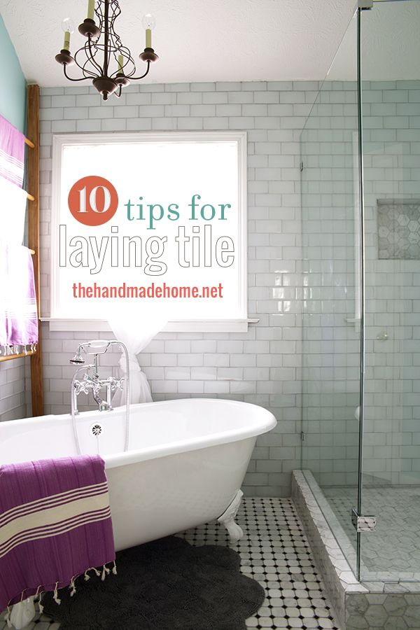 Tips for laying tile