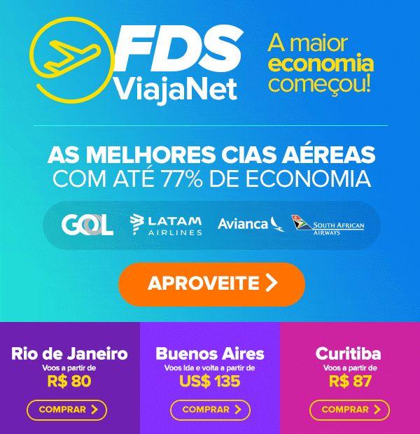 Começou o FDS ViajaNet até 77% de economia para voar! :: Jacytan Melo Passagens