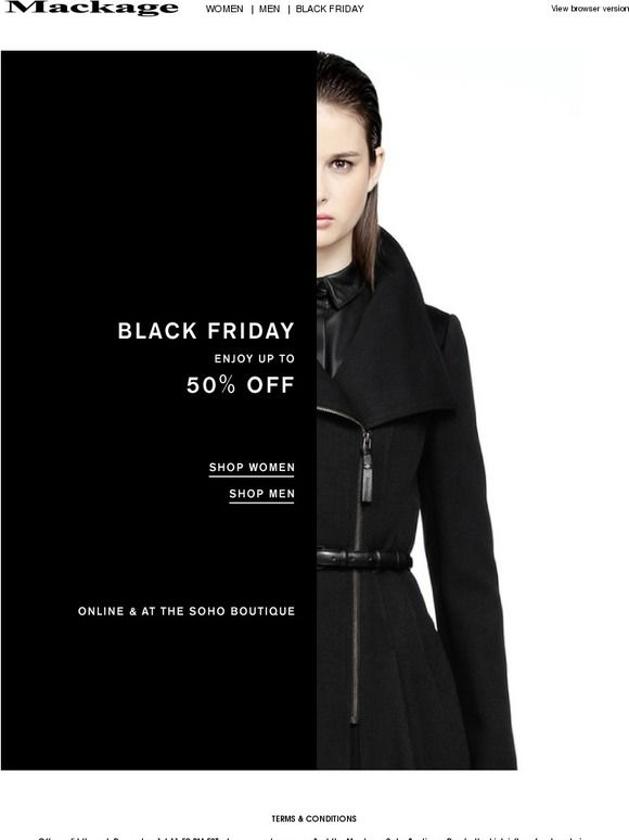 Black Friday Event | Now Started. - Mackage