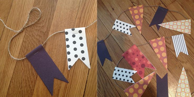 les plus beauxx: Tutorial: The easiest holiday bunting...ever.