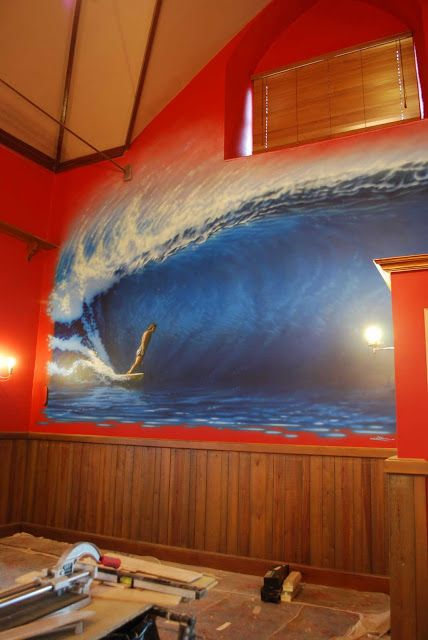 Conor Wilsons world: The new mural in the Red Barn Woolacombe is now co...