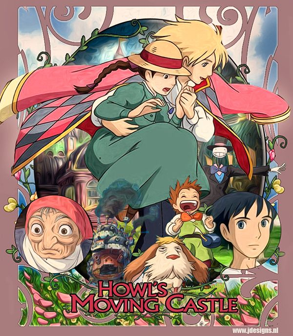 Howl's Moving Castle. When a young girl is cursed by a spiteful witch, her only hope lies in a self-indulgent young wizard. Christian Bale. Lauren Bacall. Emily Mortimer. Billy Crystal. It may be difficult to follow for younger viewers, but is a wonderful story and beautifully done.