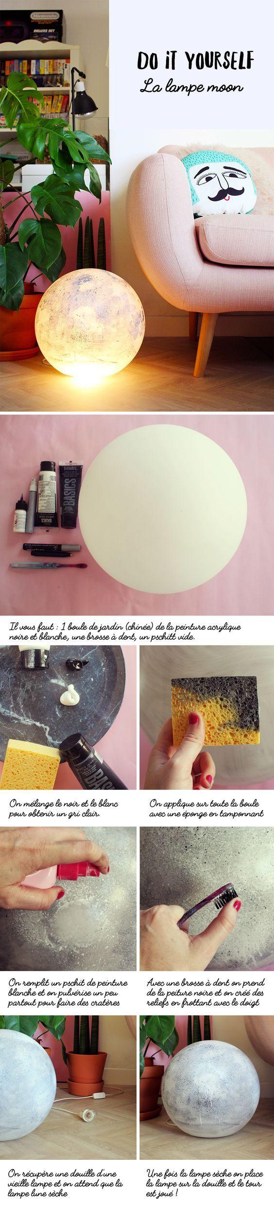 Ideas para hacer una lámpara luna