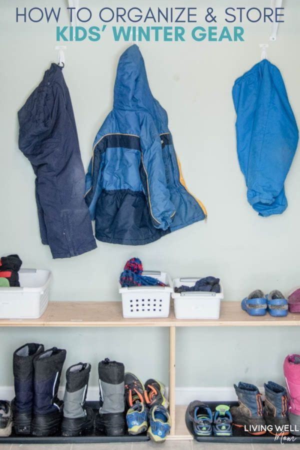 How To Organize Hats Mittens Gloves Boots Coats And More Winter Gear Storage Ideas How To Organize Hats Hat Organization Organize Winter Hats And Gloves