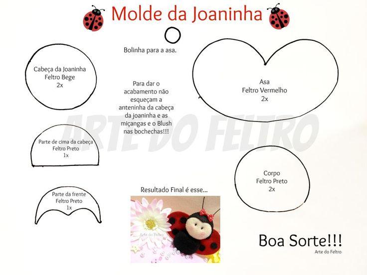 Moldes para Feltro: Joaninha