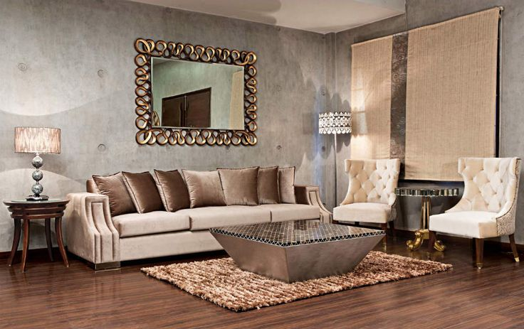 When luxury meets style, it results in a neutral bespoke interior styling with earth colours. #livingroominspirations #interiordesign