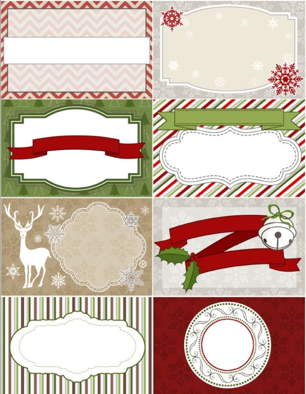 Free Printable Christmas Labels Tags Digital Papers From Labels