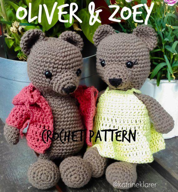Bear amigurumi / crochet pattern / ENGLISH/NORSK / PDF tutorial / easy pattern /…