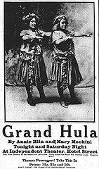 Grand Hula Ad (UH Manoa Library) Tags: news history hawaii newspaper hula ad advertisement photograph hawaiian archives historical universityofhawaii microfilm digitization hamiltonlibrary chroniclingamerica ndnp