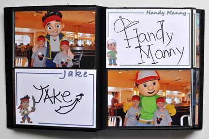 Disney Autograph Album by Scrap Inspired