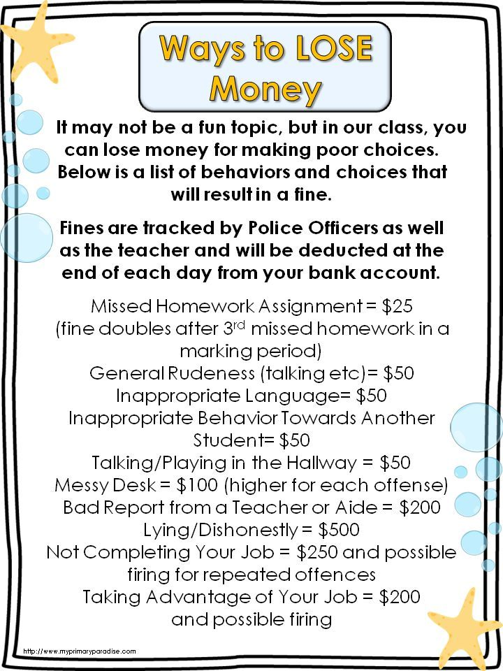 Classroom Economy and FREE Help Wanted Signs | My Primary Paradise – Edison Education | Math & Special Education Tips