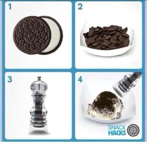 Cool trick with Oreos.