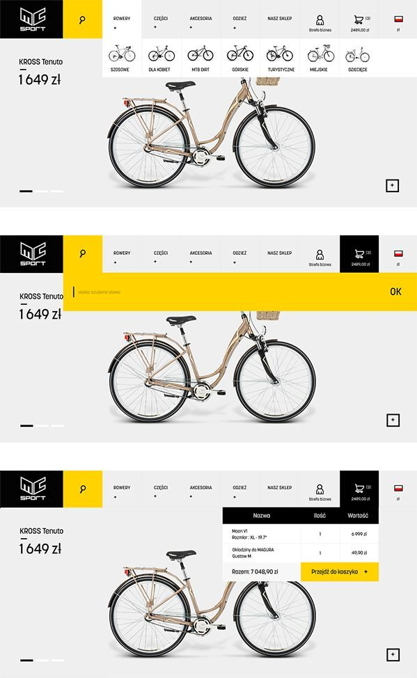 MC Sport Website Design
