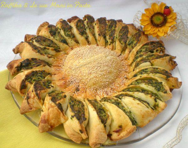 Girasole salato ricotta e spinaci,ricetta salata