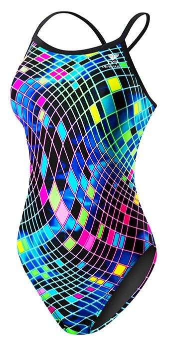 Women's Disco Inferno Diamondfit Swimsuit - Competition Suits - Swimwear - Womens
