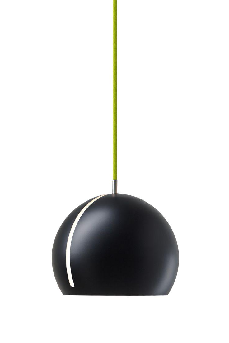 Nyta »Tilt Globe« black, light green cord