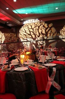Red and Charcoal dinner gala