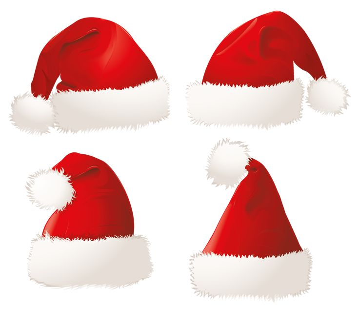Christmas Santa Hats PNG Clipart Picture
