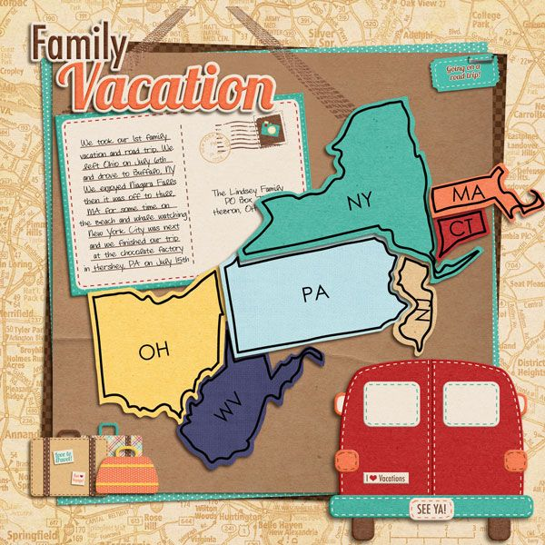 Road trip page... Would be awesoem to include cut outs of the state we drive through...