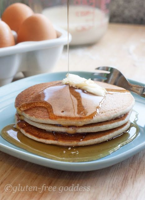 Best Gluten-Free Pancakes | Gluten-Free Goddess. For @simplyghadah . :) Ghadah, not sure if you like pancakes or not, but here's another loophole for you if you do.
