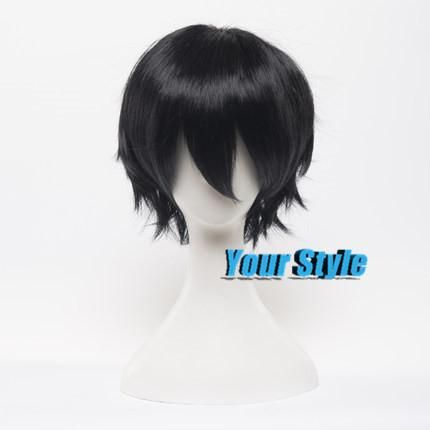 Project Shintaro Kisaragi Wig Cosplay Black Short Boy Pixie Cut Cosplay Wigs Peruca Cosplay Perruque Homme Men