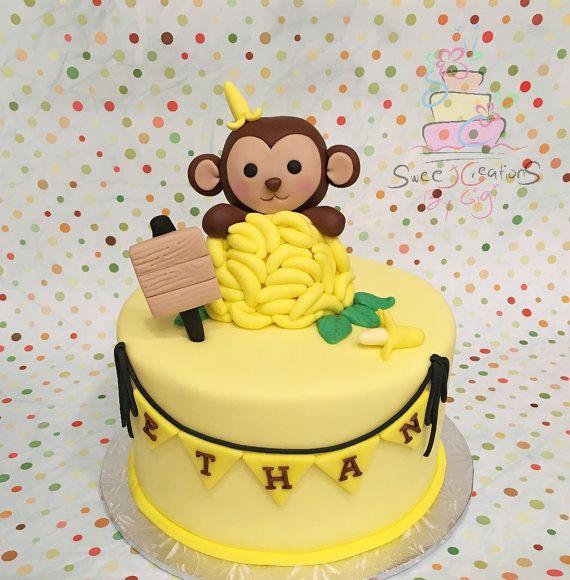 108 best fondant cake toppers images on pinterest - Banana cake decoration ...