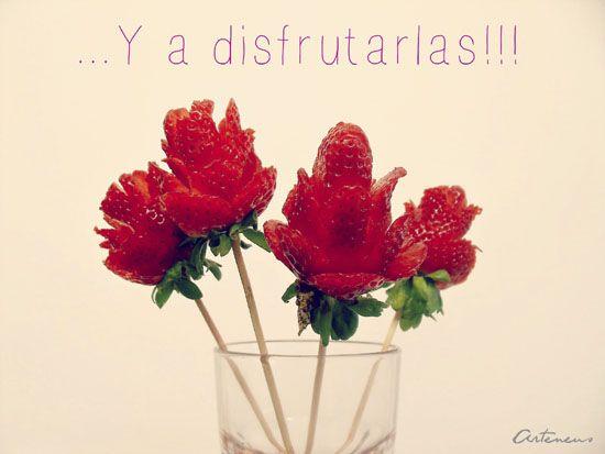 flores con sabor a fresas en http://www.arteneus.com/flores-con-sabor-fresas-umnnnn/
