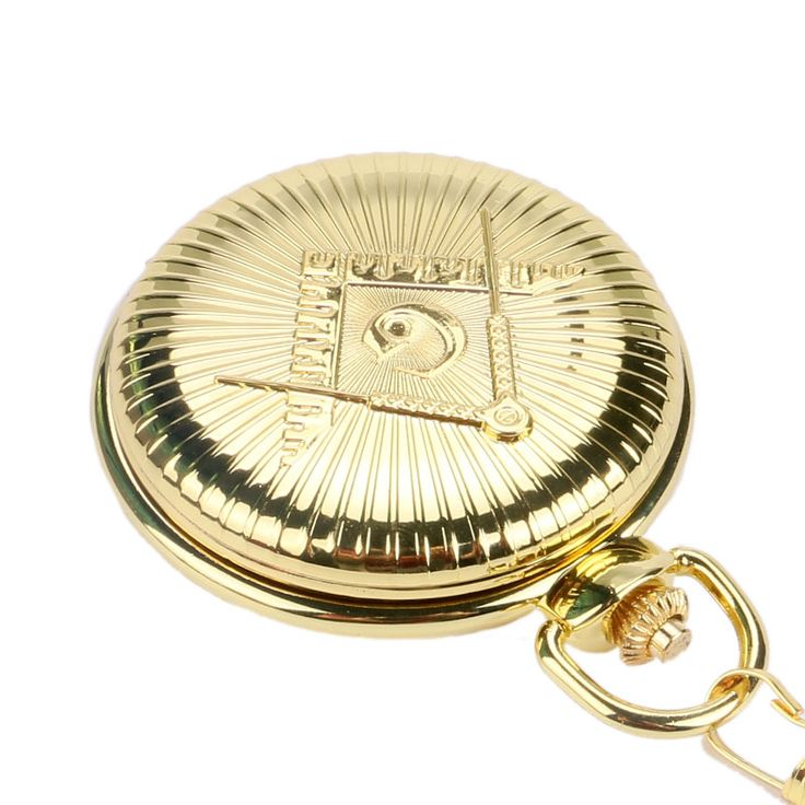 "Luxury Golden Big ""G"" Masonic Free-Mason Freemasonry Jewelry Quartz Pocket Watch Fob Watches Pocket Chain Gifts Relogio De Bolso - Online Shopping for Watches"