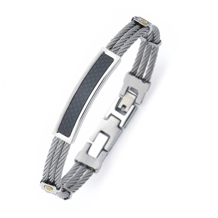 Bracelet RIGIDE ACIER CARBONE