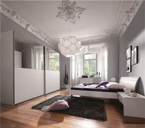 Beautiful ledikant Santara met schuifdeukast wit met spiegel NOLTE
