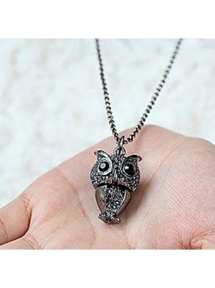 Owl Metal Necklace