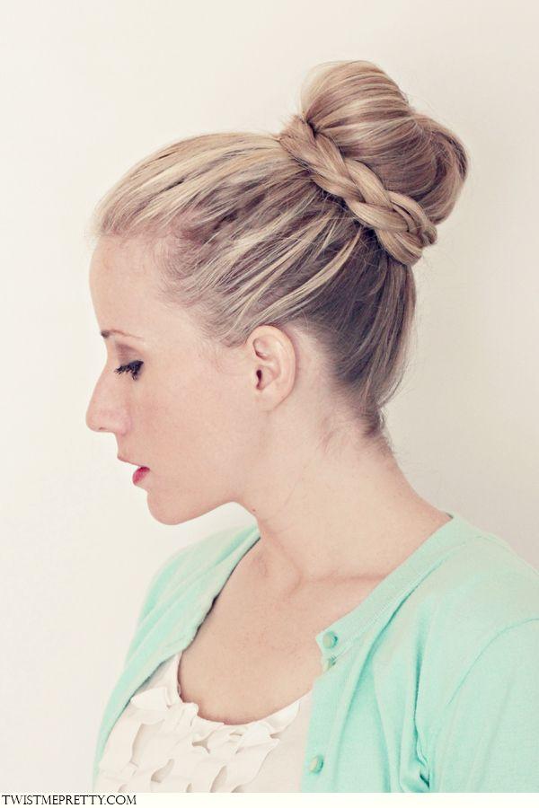 A Braided Ballerina Bun Hair Tutorial Hairstyles I Love