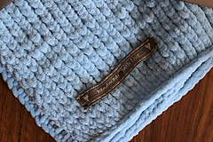 Textil - Mäkučká deka pre bábätko modrá - 7031702_