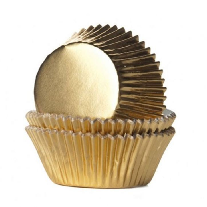 Goldene Cupcake Förmchen