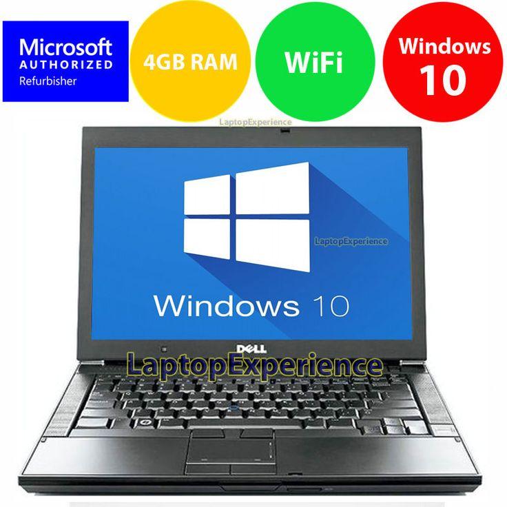 "cool От #eBay: ""DELL LAPTOP LATiTUDE WINDOWS 10 CORE 2 DUO 4GB RAM WIN DVD WIFI PC HD COMPUTER """