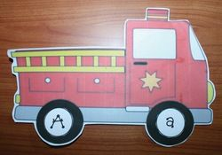FREE Fire Safety independent center activity. Students match the upper and lowercase letter circles to each other.  (The inside of the wheel with the letter on it, is white to conserve ink. ) :-)