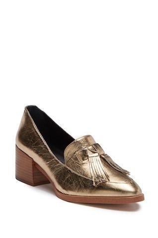 8d03b963808 Edie Tassel Block Heel Loafer