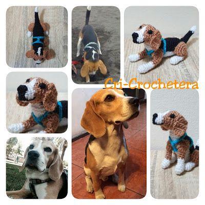 Cri-Crochetera: MINI-ANSELMO Es un Beagle con dueños viajeros.  Ah...