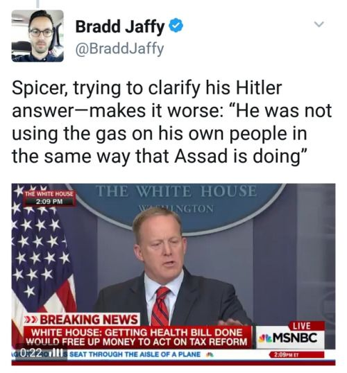 Shorter Spicey: Syrians were innocent, Jews deserved it. Also, Jews are not people. German Jews are not 'his people'.
